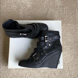 Wedge booties